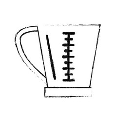 Measuring cup kitchenware icon image vector