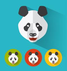 panda portrait with flat design vector image vector image