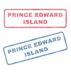 Prince edward island textile stamps vector