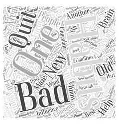 Research about bad habits word cloud concept vector