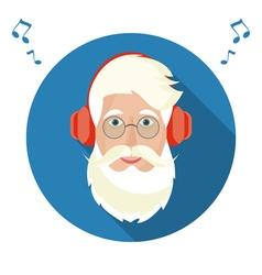Santa Claus face icon vector image