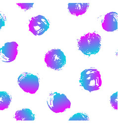 Seamless pattern with brush blots and vector