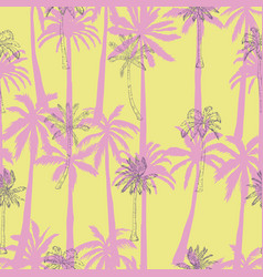 Seamless tropical palms pattern summer endless vector