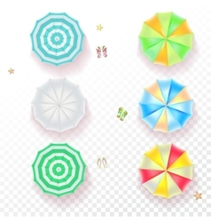 Set of colorful beach umbrellas vector image