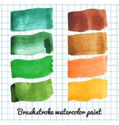 Set of colorful watercolor brush strokes vector image