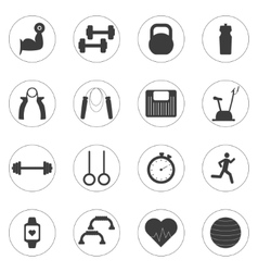 Set of sport and fitness icons sport vector