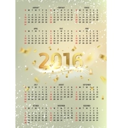 Simple calendar 2016 vector image
