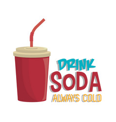 Soda beverage drink isolated vector
