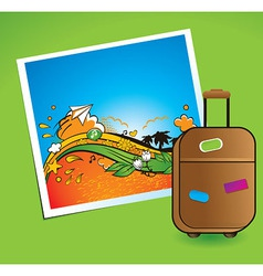 summer and traveling vector image