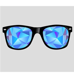 Sunglasses with abstract geometric triangles vector