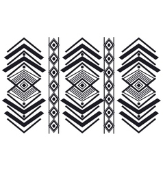 tribal geometric pattern icon vector image