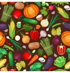Vegetables ingredients seamless pattern vector