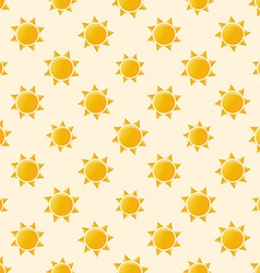 Yellow sun seamless pattern vector