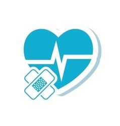 Heart bandage medical care design vector