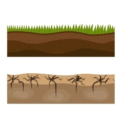 Ground slices vector