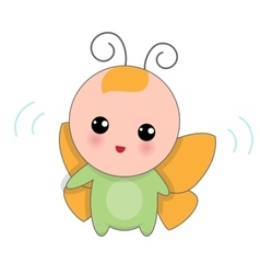 Baby Of Butterfly Suit vector image