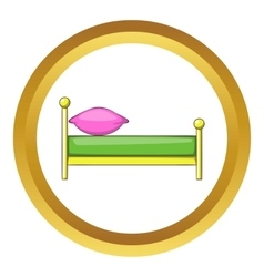 Kid bed icon vector