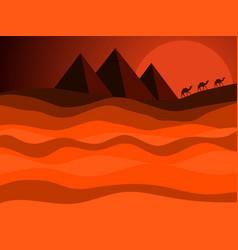 Egyptian pyramids of ancient egypt desert vector