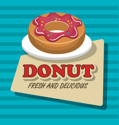 donut sweet dessert isolated vector image
