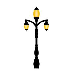 vintage streetlight on white background vector image