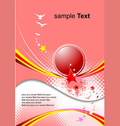 Pink holiday background invitation card vector