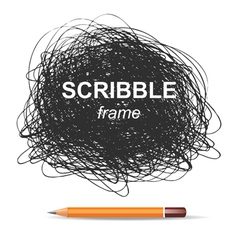 Scribble background vector