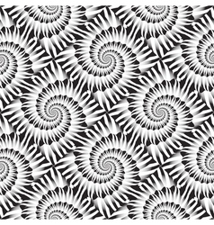 Design seamless monochrome spiral rotation pattern vector