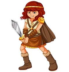 Girl viking vector image