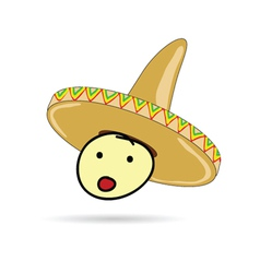 Sombrero hat on head vector