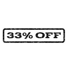 33 percent off watermark stamp vector