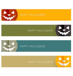 Halloween headers vector