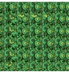 Green plants pattern seamless vector