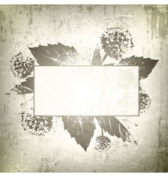 Natural floral frame background vector