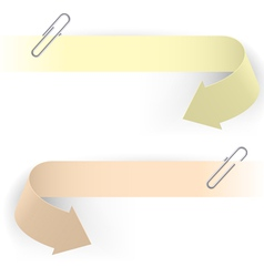 Realistic arrows and clips on white background vector
