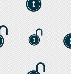 Open lock icon sign seamless pattern with vector