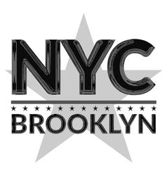 T shirt typography graphic new york city brooklyn vector