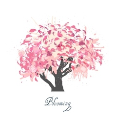 Apple tree blossom sketch vector image vector image