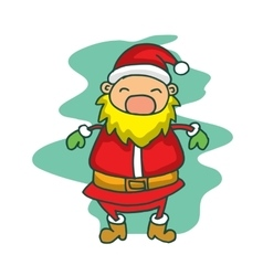Christmas theme santa claus happy vector