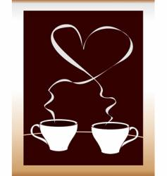 coffee with love vector image vector image