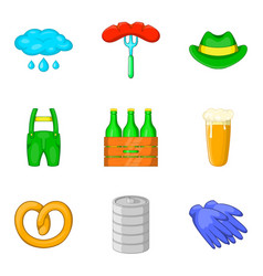 collecting hops icons set cartoon style vector image vector image