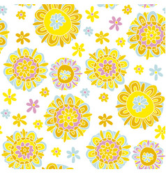 Concept decorative marigold flower vector
