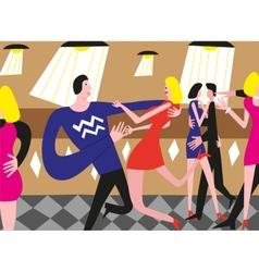 Dancing people - vector