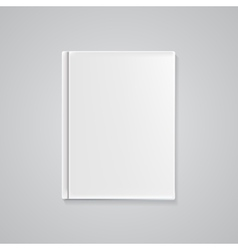 Empty Book Cover Template for Your Text or Images vector image vector image