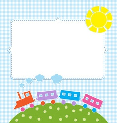 Frame with colorful train vector