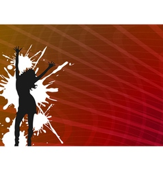 girl dancer vector image