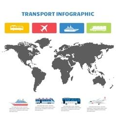 Globe world map infographic vector image