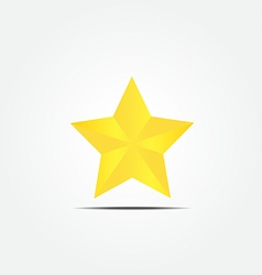 Gold star icon2 vector image vector image