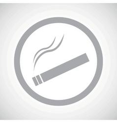 Grey smoking sign icon vector image