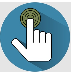 Handclick icon flat vector image vector image