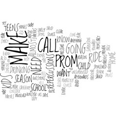 It is almost prom season text background word vector
